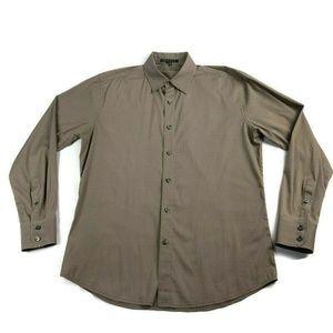 Theory Striped Button Dress Shirt Davis ReaD